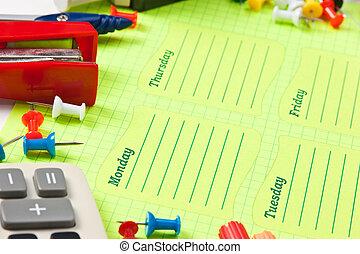 school schedule for the week - blank school schedule for the...
