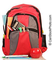 school, schooltas, rode appel