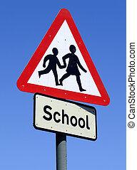 School sign.