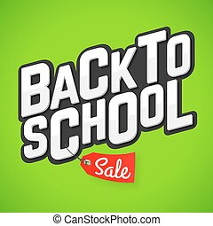 school, spandoek, back, verkoop