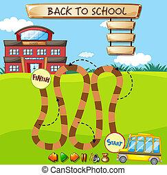 school, spel, mal, plank