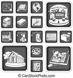 school squared icons