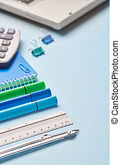 School stationery with a place for text