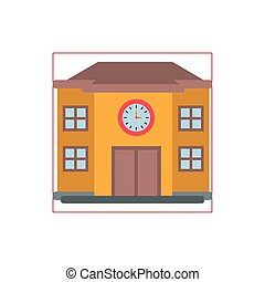 school structure flat style icon