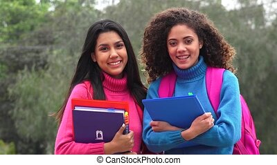 School Student Friends Teen Girls