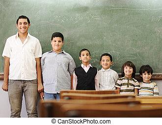 School student generations steps, from preschooler to university