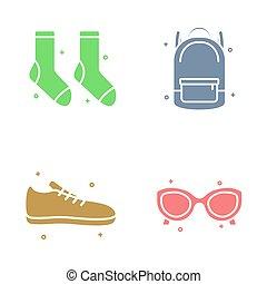 School Stuff Icon Vector Design