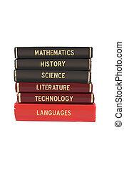 School subject books - School subjects textbooks like...