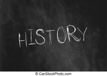 School subjects: History - Back to school collection A white...