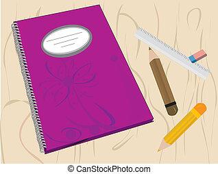 School supplies background. vector illustration.