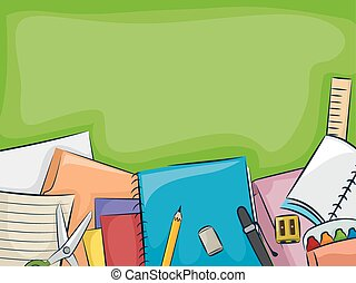School Supplies Blackboard