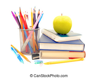 School supplies - Colorful collection of various school ...