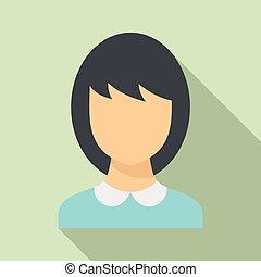 School teacher avatar icon, flat style