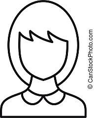 School teacher avatar icon, outline style