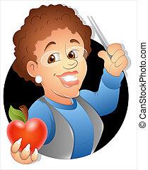 School Teacher Character - Creative Conceptual Design Art of...