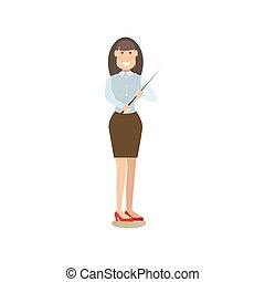 School teacher vector illustration in flat style - Vector...