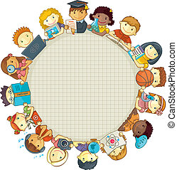 School Template With Children