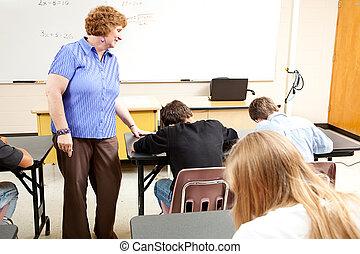 school, testen, -, stand