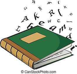 school textbook - the letters