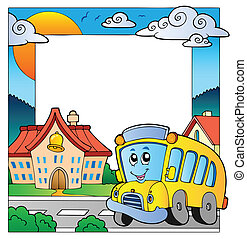 School theme frame 5 - vector illustration.