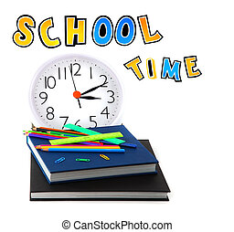 School time conceptual image of education & knowledge