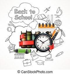 School time. Sketch
