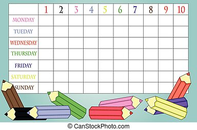 School timetable - Background of school timetable for...