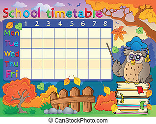 School timetable composition 1 - eps10 vector illustration.