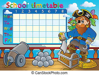School timetable thematic image 3