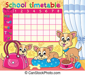 School timetable thematic image 5 - eps10 vector...
