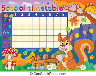School timetable thematic image 6 - eps10 vector...