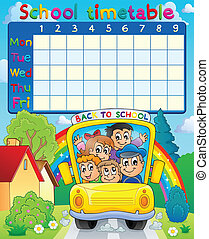 School timetable topic image 3 - eps10 vector illustration.