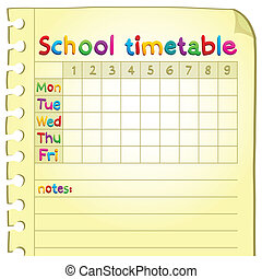 School timetable topic image 4 - eps10 vector illustration.