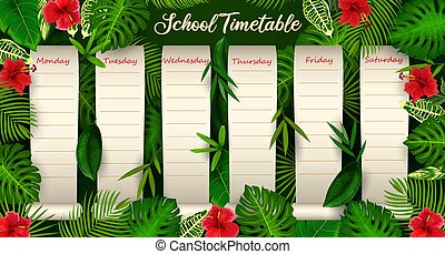 School timetable weekly planner, - School timetable with ...