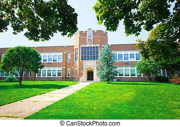 School - Typical brick school