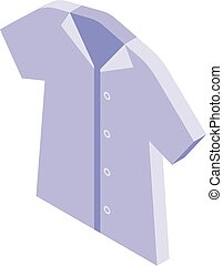 School uniform shirt icon, isometric style