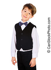 school uniform - A boy in a suit. Fashion kids. Education....