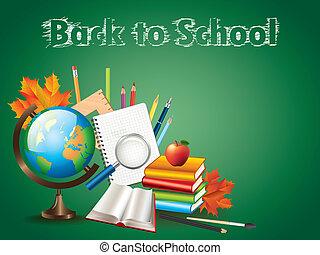 school, vector, achtergrond, back, illustratie