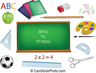 school vector illustrations