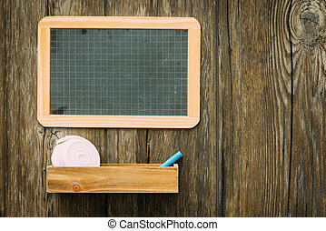 School vintage blackboard