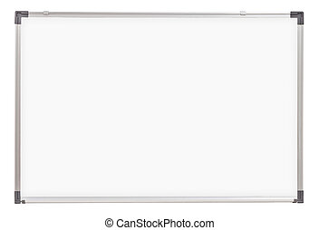 school whiteboard or board isolated on white