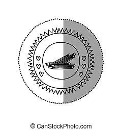 School wooden pencil icon vector illustration graphic design