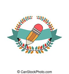 School wooden pencil icon vector illustration graphic design