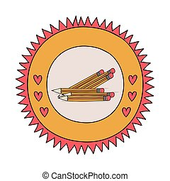 School wooden pencil vector illustration graphic design