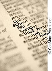 school, woordenboek