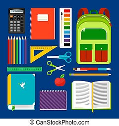 School workplace items collection