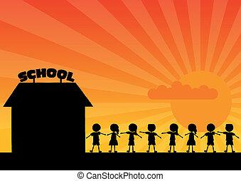 school, woth, kinderen