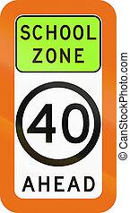 School Zone Speed Limit Ahead In Australia