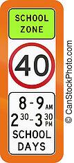 School Zone Speed Limit In Australia
