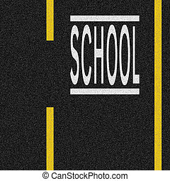 School Zone - road markings